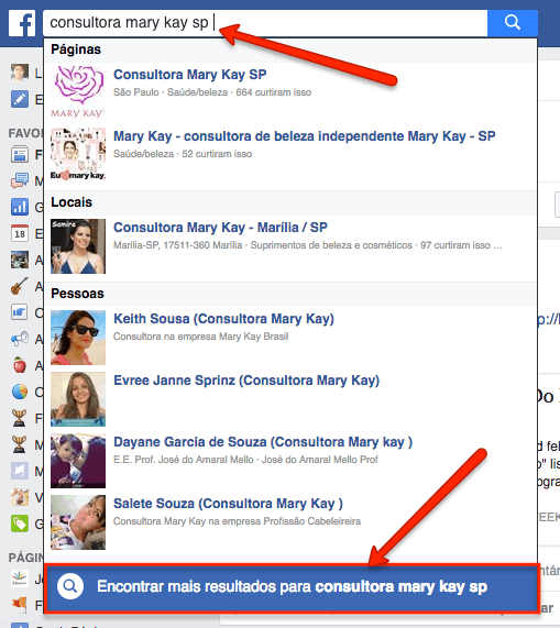 Encontrar consultora mary kay na sua cidade pelo facebook
